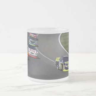 Nascar Race Frosted Glass Coffee Mug
