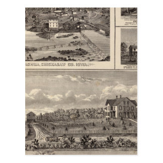 Nashua farm and residence postcard
