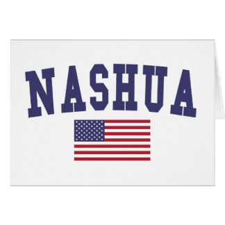 Nashua US Flag Card
