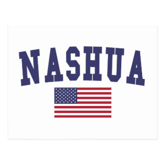 Nashua US Flag Postcard