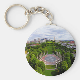 Nashville Aerial photo Key Ring