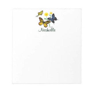 Nashville Butterflies Notepad