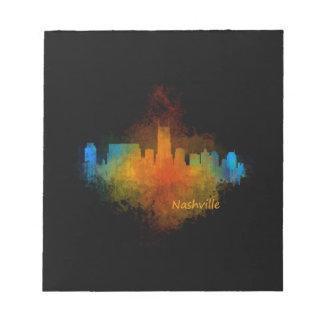 Nashville City Skyline in Tennessee v4 Dark Notepad