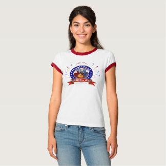 Nashville Fourth of July Women's Ringer T-Shirt