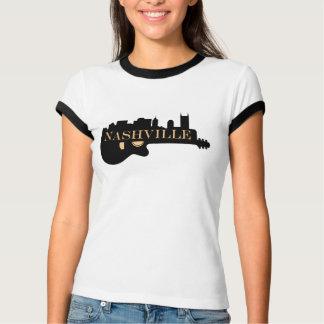Nashville Guitar Skyline Women's Ringer T-Shirt