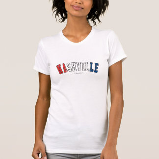 Nashville in Tennessee state flag colors T-Shirt