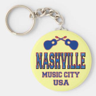 Nashville, Music City USA Key Ring