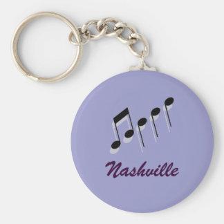 Nashville Music Notes Key Ring