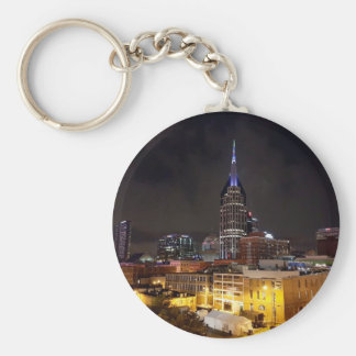 Nashville Night Skyline Key Ring