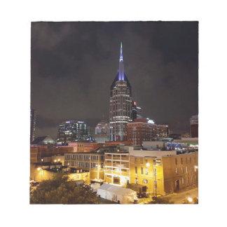 Nashville Night Skyline Notepad
