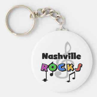 Nashville Rocks Key Ring