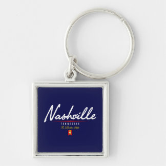 Nashville Script Key Ring