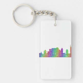Nashville skyline key ring