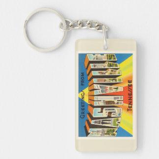 Nashville Tennessee TN Old Vintage Travel Souvenir Key Ring