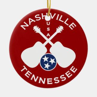 Nashville, Tennessee USA Round Ceramic Decoration