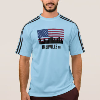 Nashville TN American Flag T-Shirt