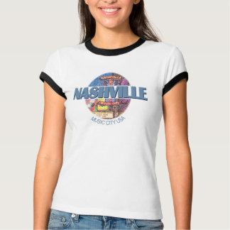 Nashville Vintage Blue Women's Ringer T-Shirt