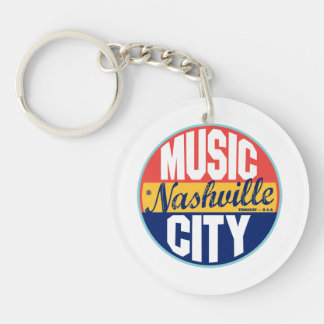 Nashville Vintage Label Key Ring