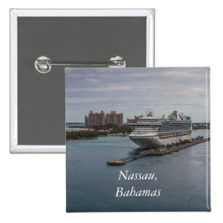 Nassau, Bahamas 15 Cm Square Badge
