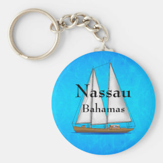 Nassau Bahamas Basic Round Button Key Ring