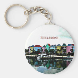 Nassau, Bahamas Basic Round Button Key Ring
