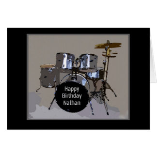 Nathan Happy Birthday Drums Card