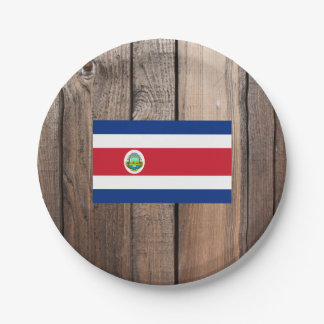 National Flag of Costa Rica Paper Plate