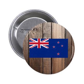 National Flag of New Zealand 6 Cm Round Badge