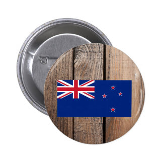 National Flag of New Zealand 6 Cm Round Badge