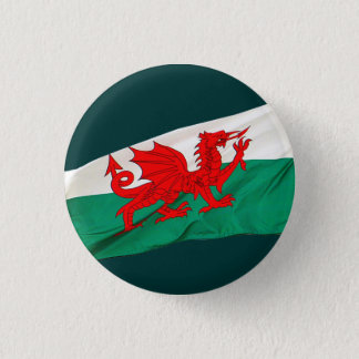 National Flag of Wales, The Red Dragon Patriotic 3 Cm Round Badge