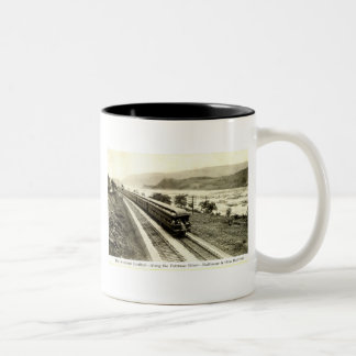 National Limited Baltimore & Ohio Railroad c1920s Two-Tone Coffee Mug