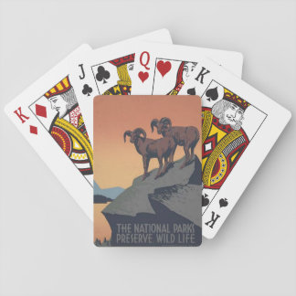 National Park Service Travel Poster Playing Cards