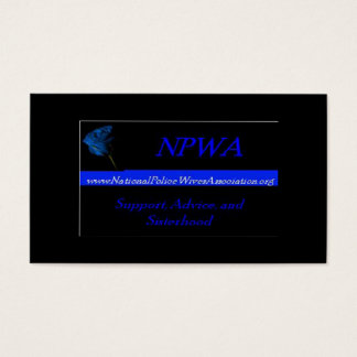 National Police Wives Association Referral Cards