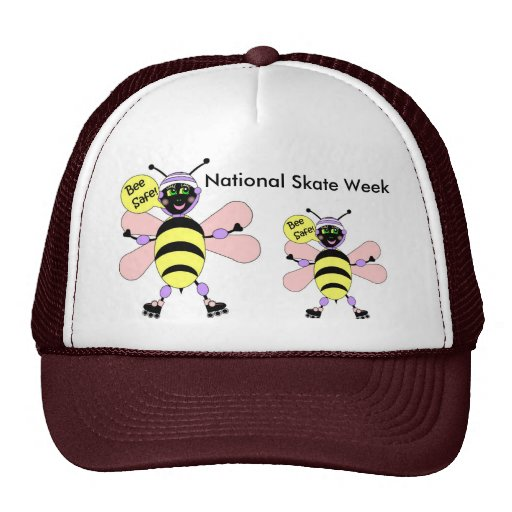 National Skate Week - Bee Safe Trucker Hat