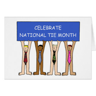 National Tie Month December Card