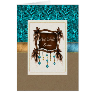 Native American Get Well Soon Note Card