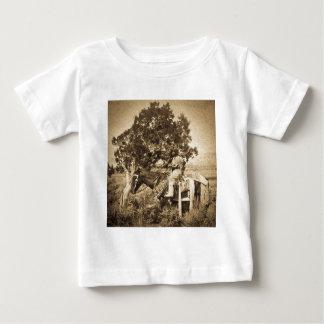 Native American Girl on Horseback Baby T-Shirt