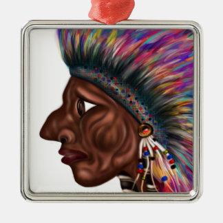 Native American Head Christmas Ornament
