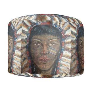 Native American Image Pouffe Pouf