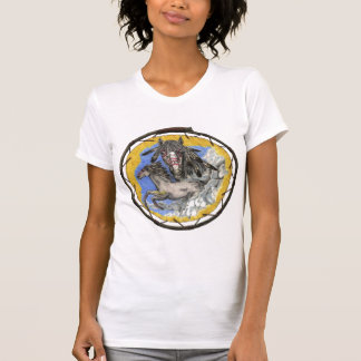 Native American Mustang Horse Girl T-Shirt