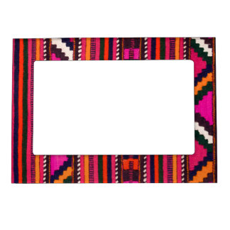 Native American Navajo Indian pink texture design Magnetic Frame