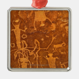 Native American petroglyphs, Rochester Panel, Christmas Ornament