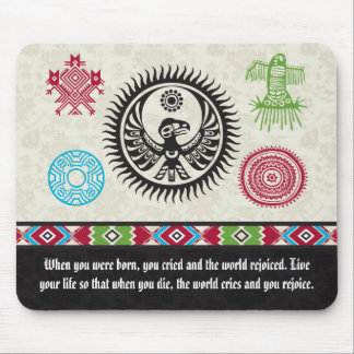 Native American Symbols and Wisdom - Phoenix Mouse Pad