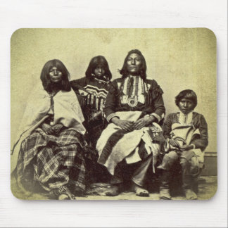 Native American Ute Family Vintage Stereoview Mouse Pad