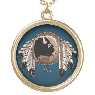 Native Art Necklace Spirit Animal Metis Necklace