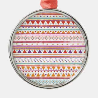 NATIVE BANDANA Silver-Colored ROUND DECORATION