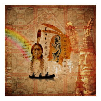 Native Indian Impressions Poster