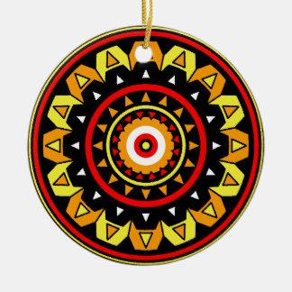 Native Mandala Round Ceramic Decoration