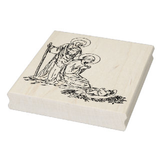 Nativity baby Jesus illustration art stamp