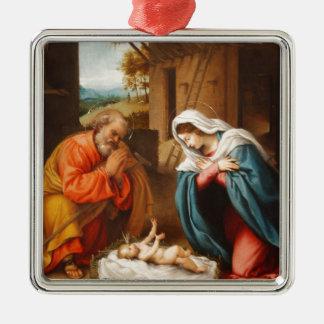 Nativity by Lorenzo Lotto Christmas Ornament